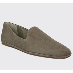 Vince Paz Venetian Suede Slip-On Loafer Gray 9.5